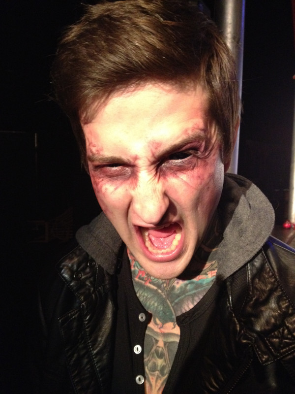 Mitch Lucker Screaming Black And White Great fx done to mitch.